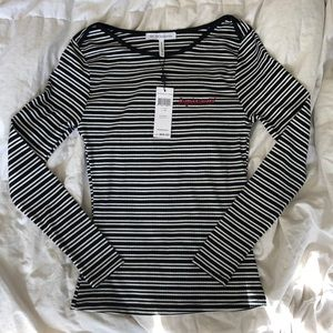 BCBGeneration striped long sleeve top
